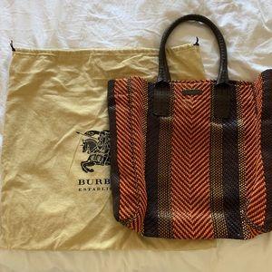 burberry prorsum 2012 woven bag